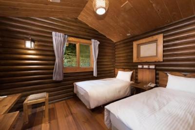 原野雙人木屋房(一大床/兩小床)
